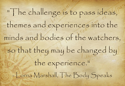 quote about performing arts_Lorna Marshall