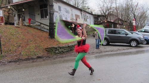 I had a great time spinning flag poi in the Rabbit Hash parade. Life's too short to not do stuff like this. :)