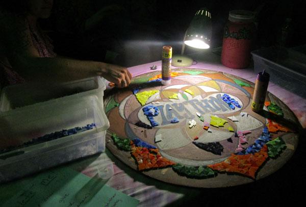 PlayThink Festival art mosaic